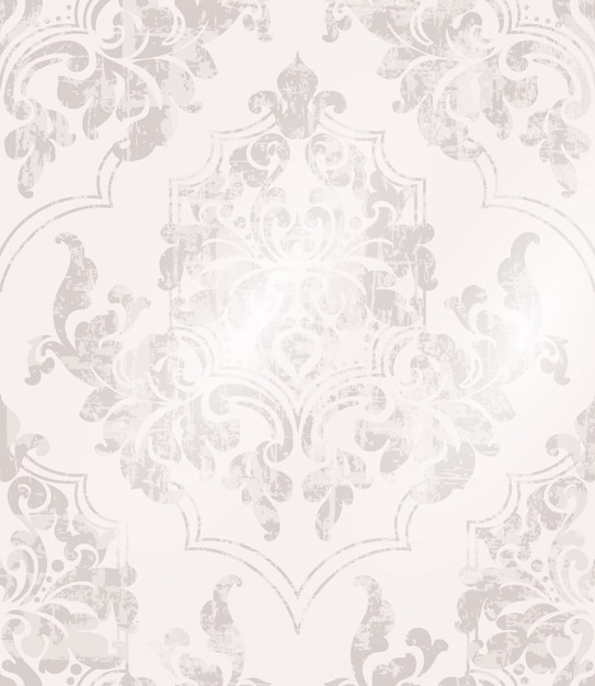 Vintage fond baroque orné Vecteur Premium