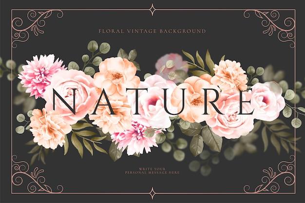 Vintage fond floral Vecteur gratuit