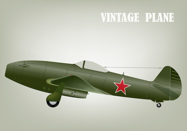 Vintage guerre avion vector illustration eps 10 Vecteur Premium