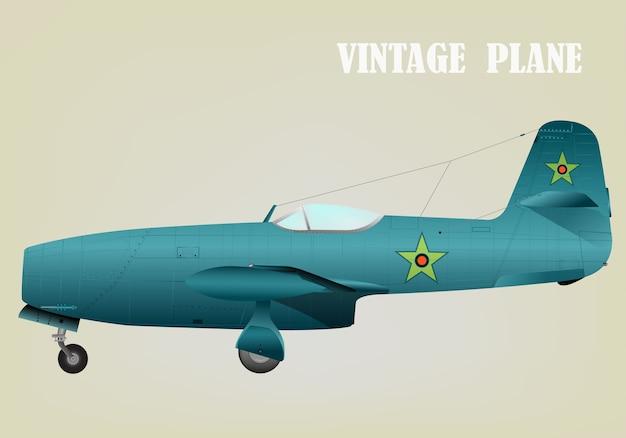 Vintage guerre avion vector illustration eps 10 Vecteur Premium