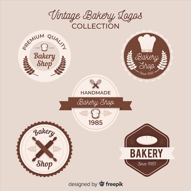 Vintage logo de boulangerie Vecteur gratuit