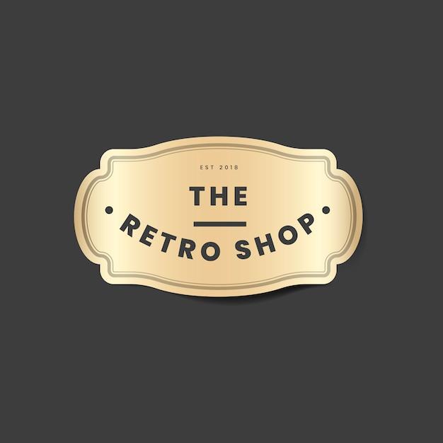 Vintage logo doré Vecteur gratuit