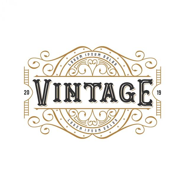 Vintage Logo Pour La Nourriture Ou Un Restaurant Vecteur Premium