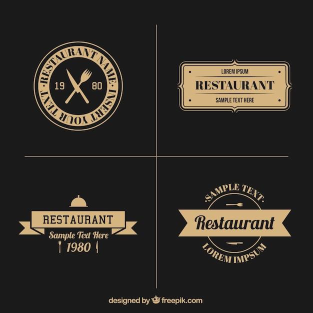 vintage restaurant logo collection t233l233charger des