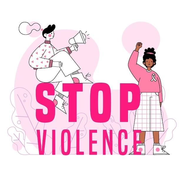 La Violence Contre Les Femmes Met Fin Aux Abus Vecteur gratuit