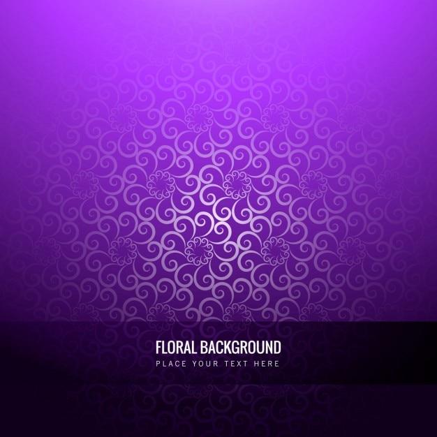 Violet fond floral Vecteur gratuit