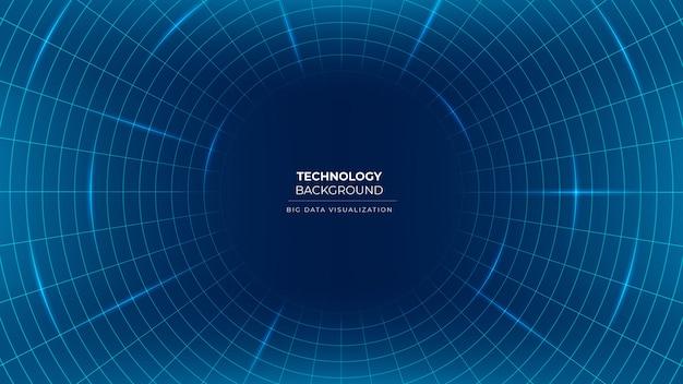 Visualisation De Données Représentation Contexte De La Technologie Des Flux D'informations Avec Des Lignes Et Des Cercles Vecteur Premium