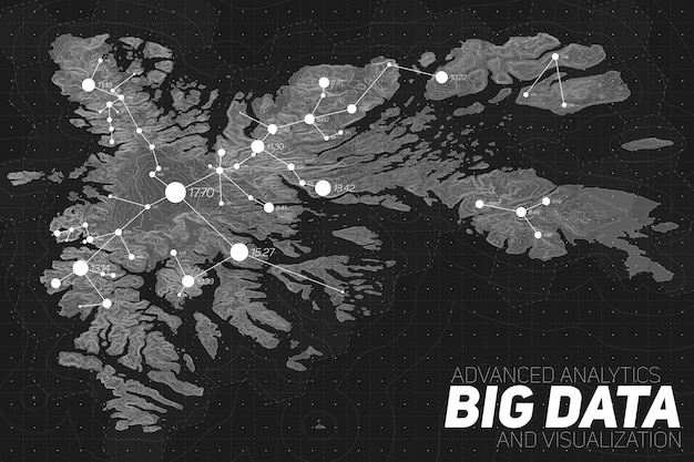 Visualisation Des Données Volumineuses Du Terrain Vecteur gratuit