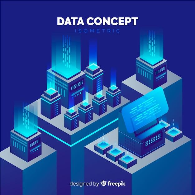 Visualisation de données Vecteur gratuit
