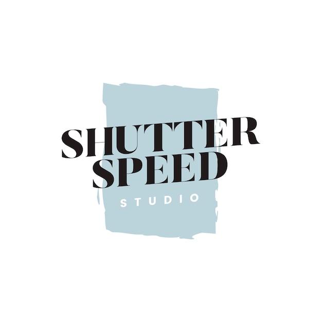 Vitesse d'obturation studio logo vectoriel Vecteur gratuit