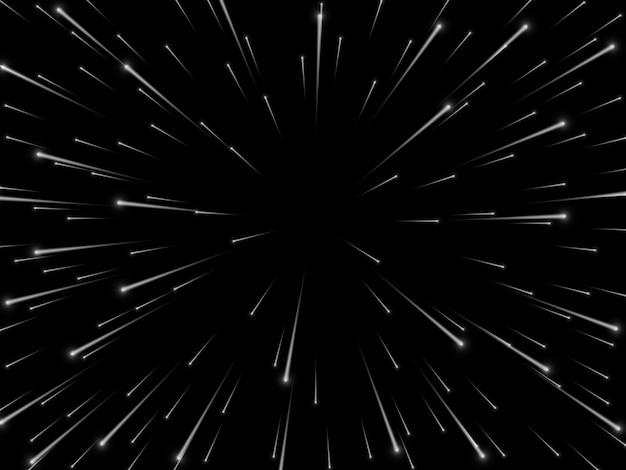 Vitesse Spatiale. Lignes Ou Rayons Dynamiques Abstraites En étoile. Vecteur Premium