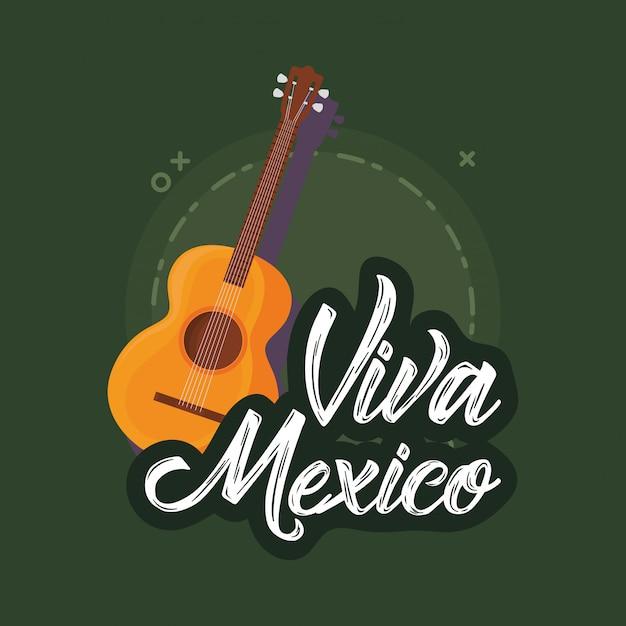 Viva mexico Vecteur Premium