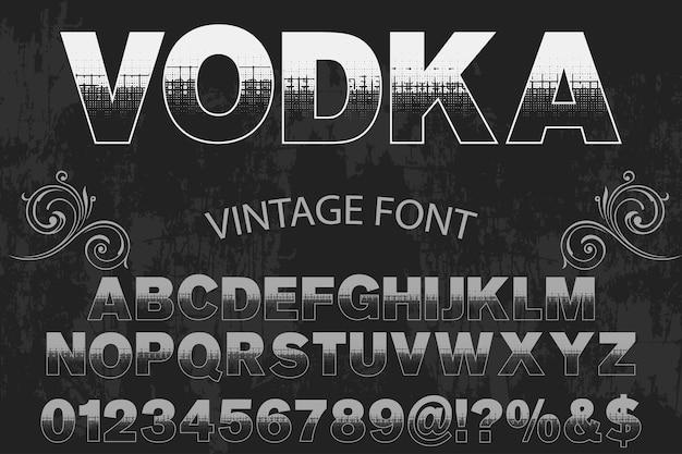 Vodka Design étiquette De Police Vecteur Premium