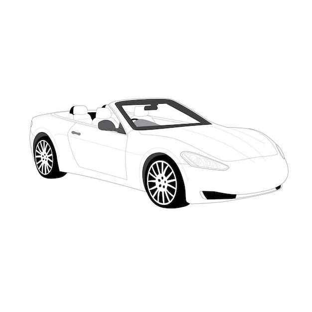 Voiture cabriolet Vecteur Premium