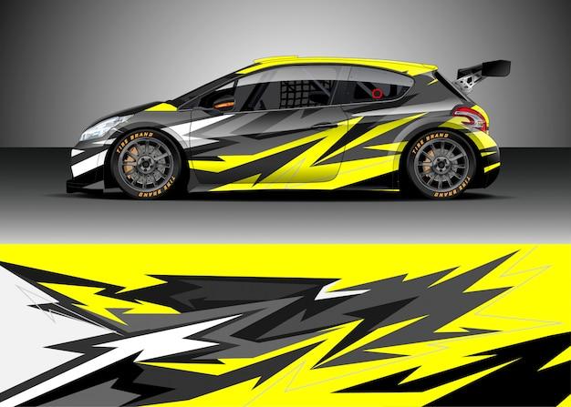 Voiture de course pour rallye Vecteur Premium