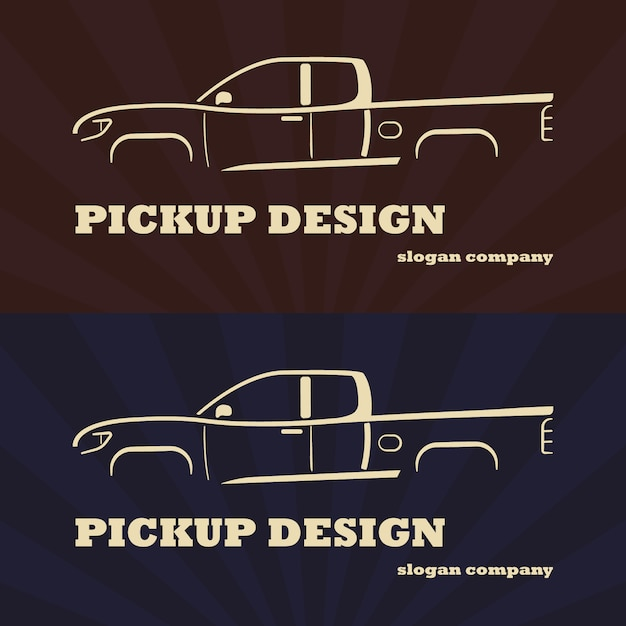 Voiture Pick-up. Illustration Vectorielle Vecteur Premium