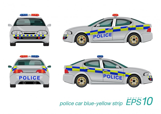 Voiture de police Vecteur Premium