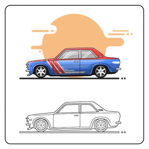 Voiture de rallye Vecteur Premium