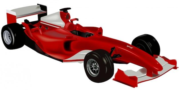Voiture de sport f1 Vecteur Premium