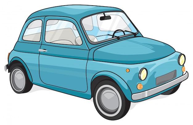 Voiture vintage bleue Vecteur Premium