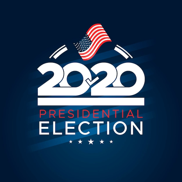 Vote à L'élection Présidentielle Américaine Flat 2020 Vecteur Premium