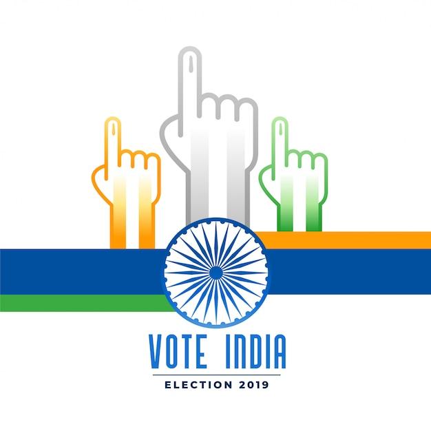 Voter et voter campagne électorale indienne Vecteur gratuit