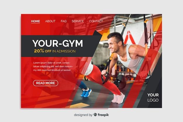 Votre Page D'atterrissage De Promotion De Gym Vecteur gratuit