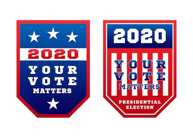 Votre Vote Compte Pour Les élections Primaires Présidentielles Aux états-unis D'amérique En Novembre Pour Les Candidats Démocrates Ou Républicains. Vecteur Premium