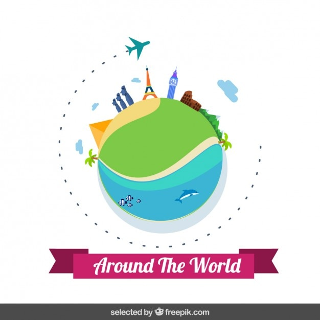 Voyage autour du monde t l charger des vecteurs gratuitement - Decoration voyage autour du monde ...