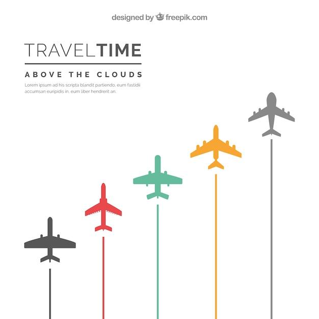 Voyage De Temps De Fond Vecteur gratuit