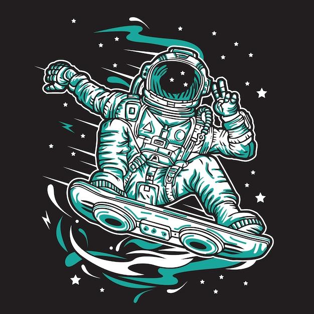 Voyageur de l'espace Vecteur Premium