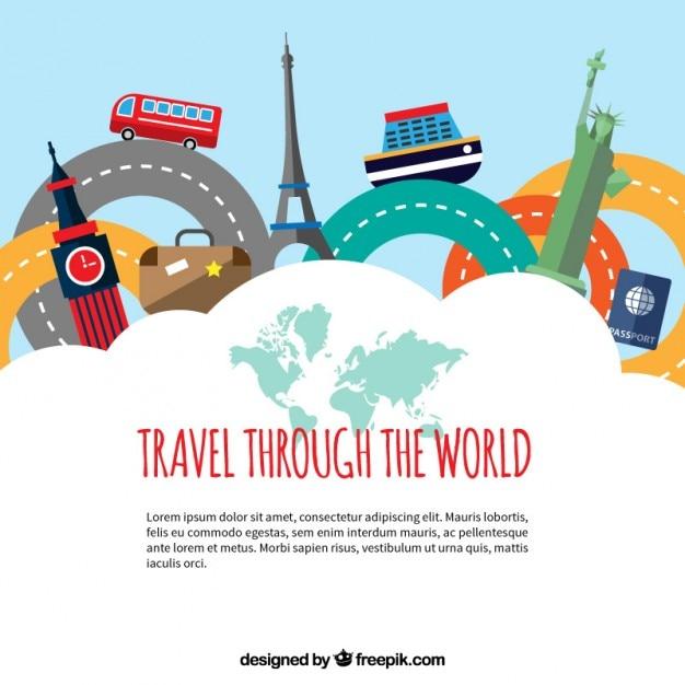 Voyagez à travers le monde Vecteur gratuit