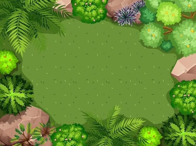 Vue aérienne du fond de jardin Vecteur gratuit