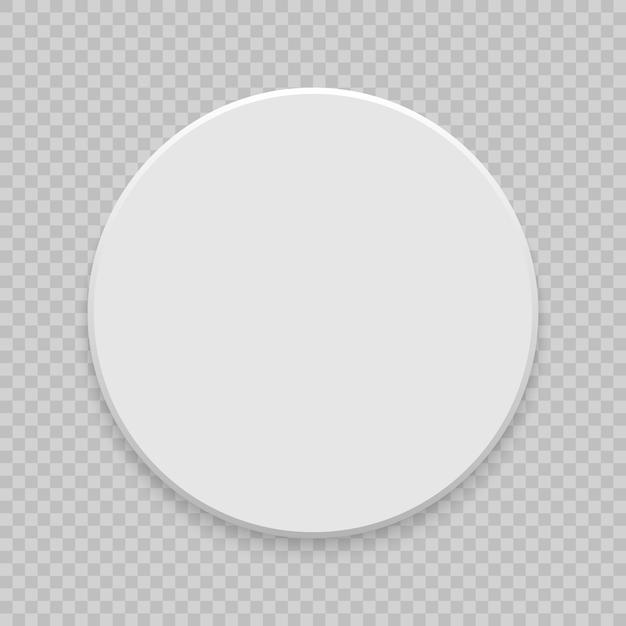 Vue de dessus de boîte avec une ombre. maquette du modèle 3d. blanc réaliste blanc Vecteur Premium
