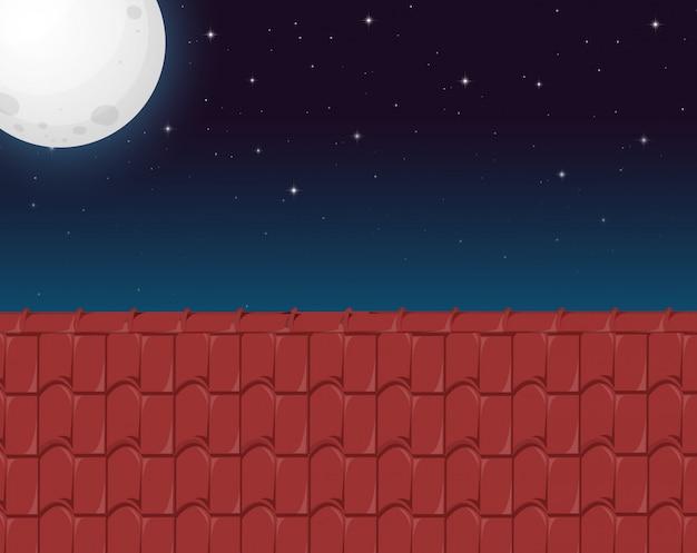 Une vue du toit de la maison Vecteur gratuit