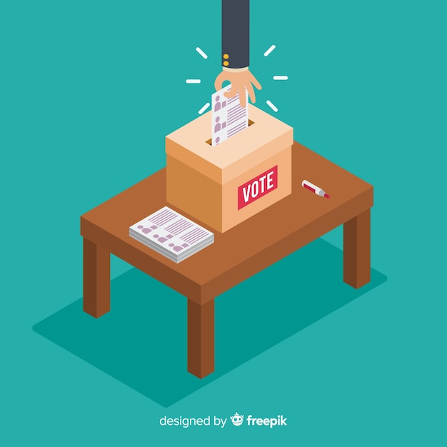 Vue Isométrique De La Case élection Vecteur gratuit