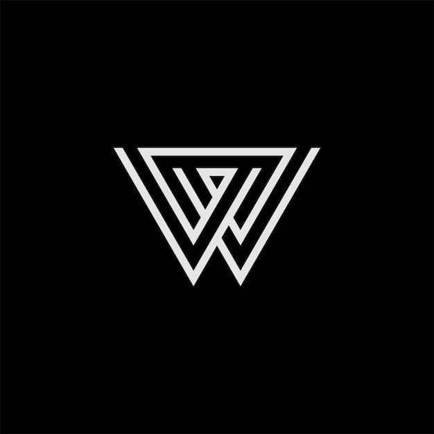 W symbol dessin au trait Vecteur Premium