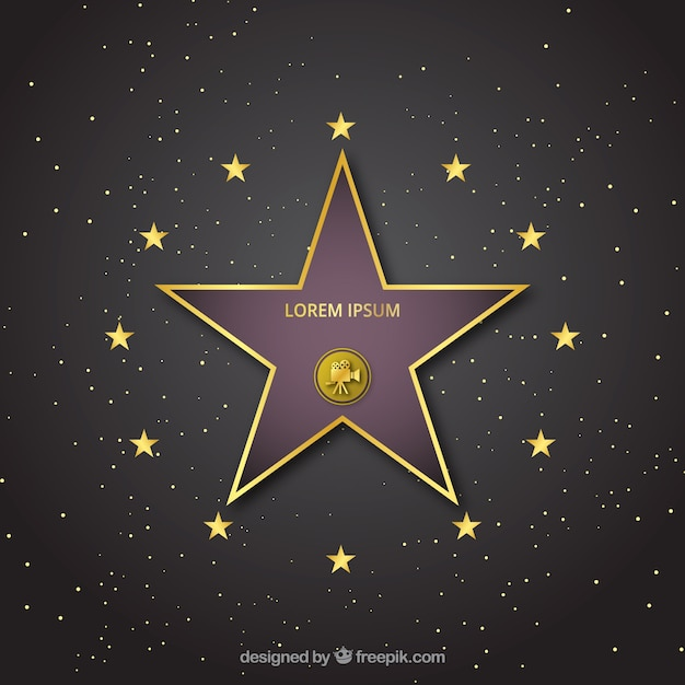 Walk of fame Vecteur gratuit