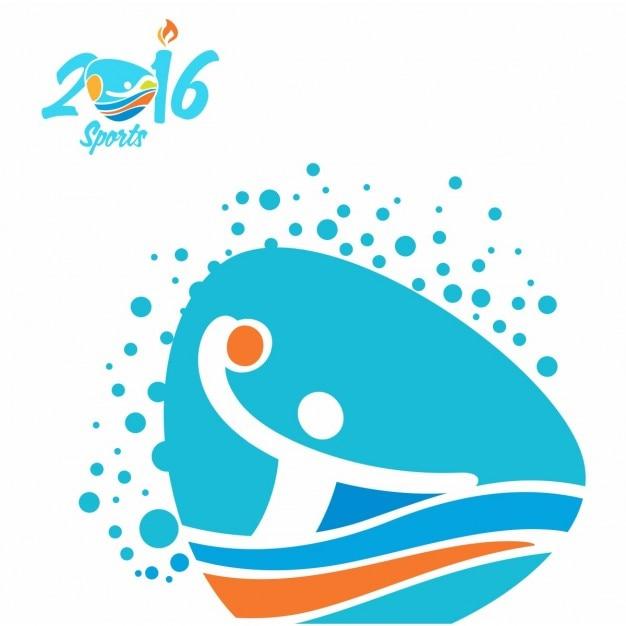 Water polo rio olympics icon Vecteur gratuit