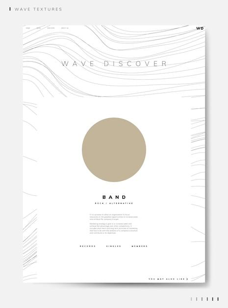 Wave Découvrir Le Vecteur D'informations Sur Le Groupe Vecteur gratuit