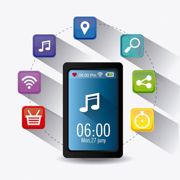 Wearable technology design. Vecteur Premium