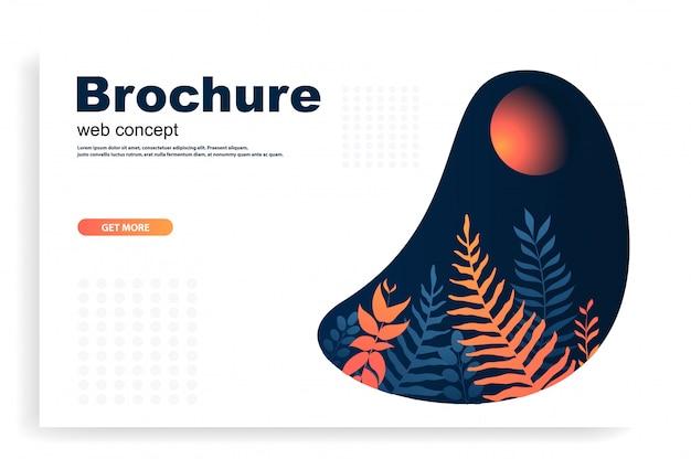 Web ou brochure Vecteur Premium