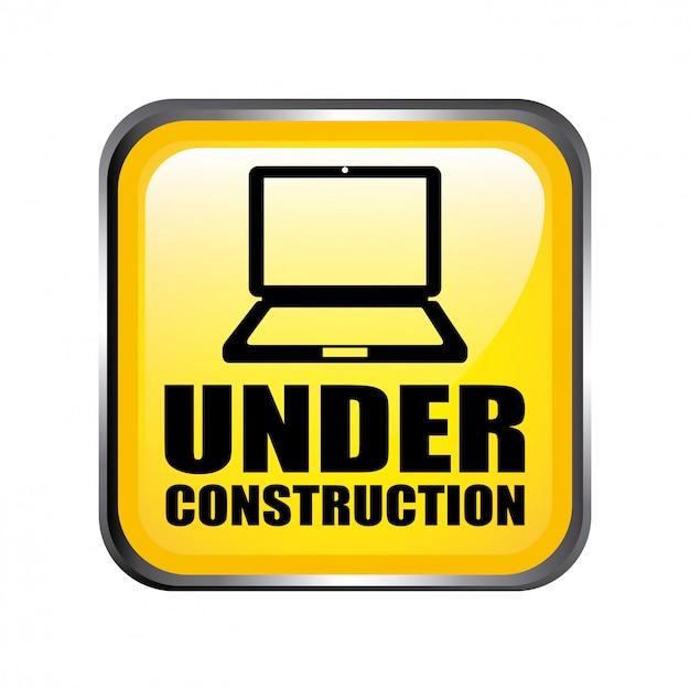 Web en construction concept Vecteur gratuit