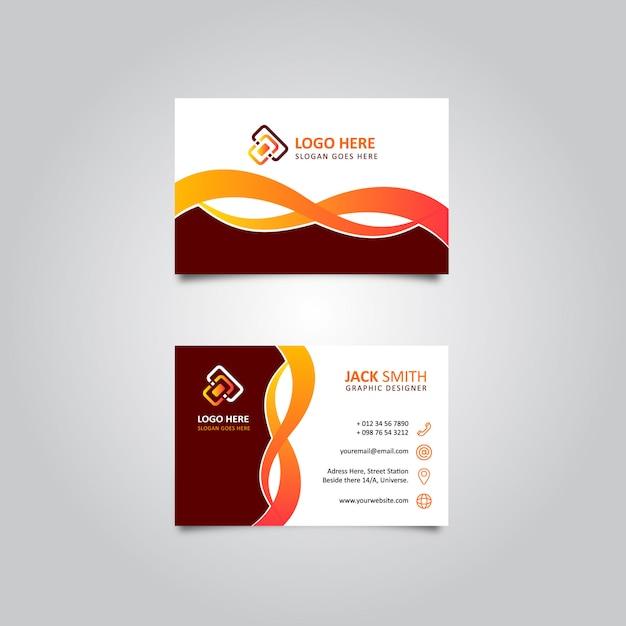 Weby élégant carte de visite Vecteur Premium