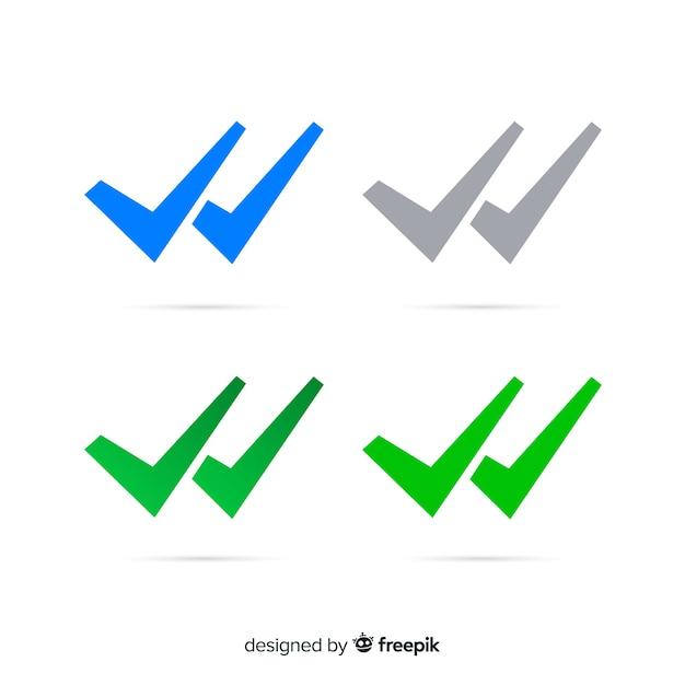 Whatsapp Conception De Double Vérification Vecteur gratuit
