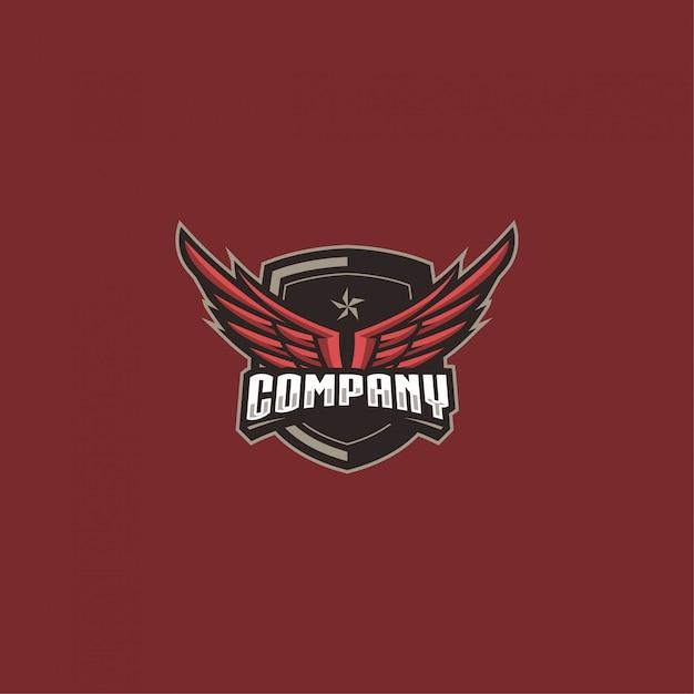 Wings logo de l'entreprise Vecteur Premium
