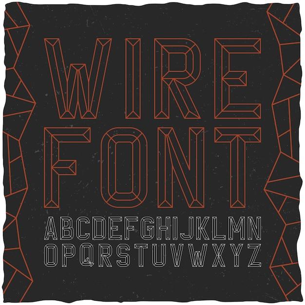 Wirefont Sur Noir Vecteur gratuit