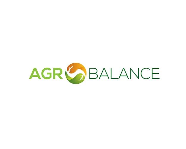 Wordmark agro balance Vecteur Premium