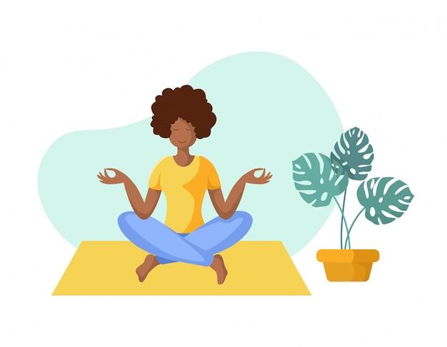 Yoga Différentes Personnes Vecteur Premium