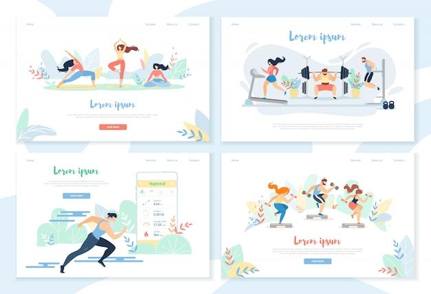 Yoga, Exercices De Gymnastique, Course à Pied Sprinter Distance Vecteur Premium